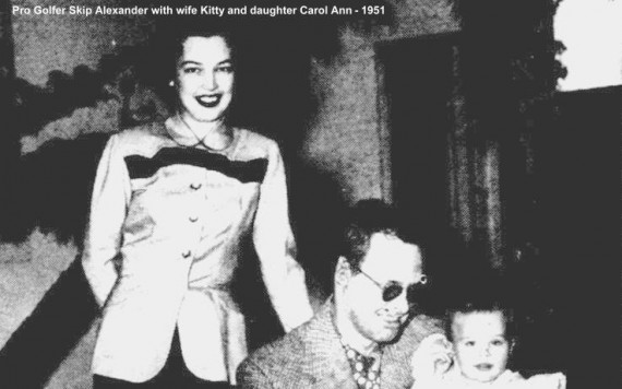 Skip Alexander with his wife Kitty and daughter Carol Ann.