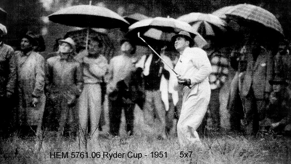 Ten years after winning the 1941 North & South Open, Sam Snead led the United States to a win the 1951 Ryder Cup at Pinehurst, show here. Photo courtesy of the Tufts Archives