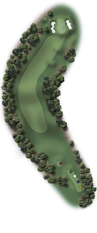 Hole Illustration for Pinehurst No. 10