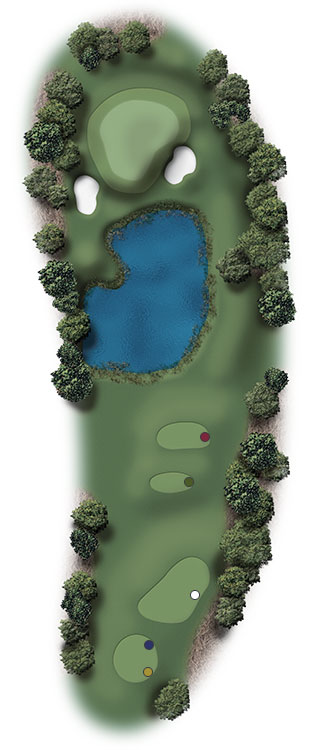 Hole Illustration for Pinehurst No. 15
