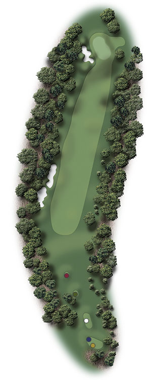 Hole Illustration for Pinehurst No. 2