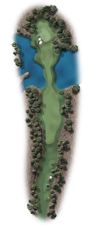 Hole Illustration for Pinehurst No. 10