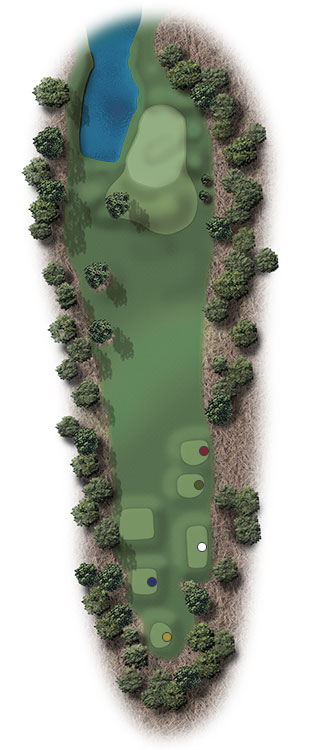 Hole Illustration for Pinehurst No. 13