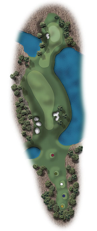 Hole Illustration for Pinehurst No. 14