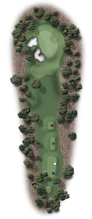 Hole Illustration for Pinehurst No. 3