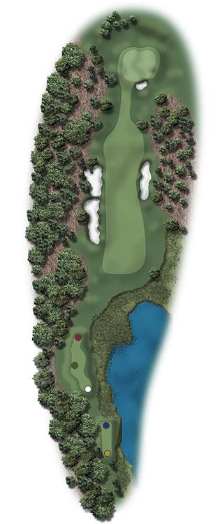 Hole Illustration for Pinehurst No. 16