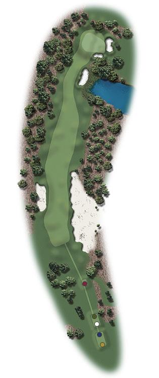 Hole Illustration for Pinehurst No. 17
