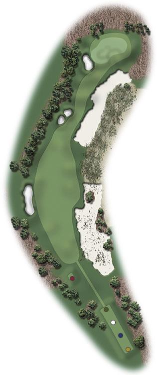 Hole Illustration for Pinehurst No. 9