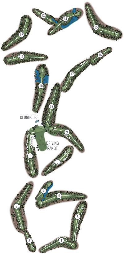 Course Illustration for Pinehurst No. 6