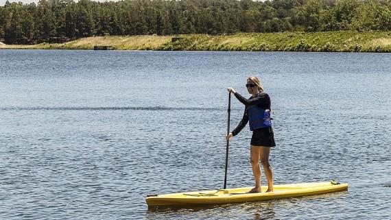 Experience stand up paddleboarding on Lake Pinehurst