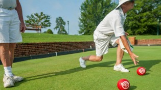 Lawn Bowling is a fun activity for guests of all ages.
