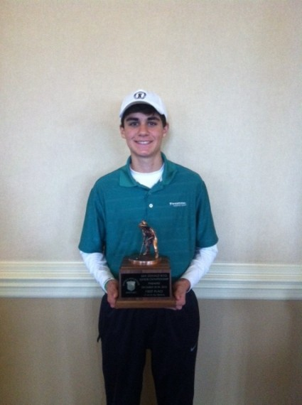 Winston Margaritis won the 12-14-year-old division of the Donald Ross Junior.
