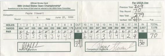 Payne Stewart Scorecard