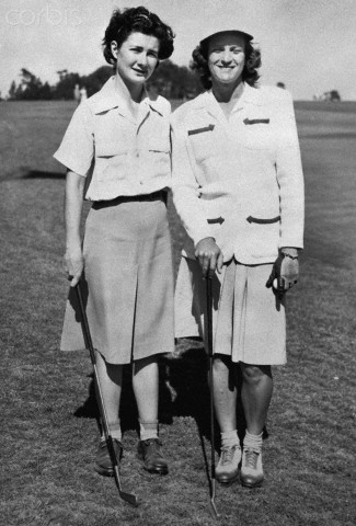 Babe Didrikson Standing with Louise Suggs