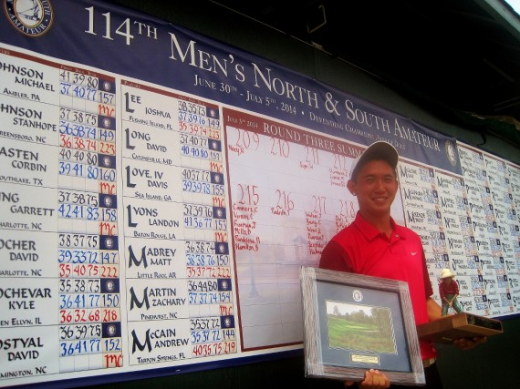Southern Cal star Rico Hoey wins medalist honors at the 114th North & South Amateur.