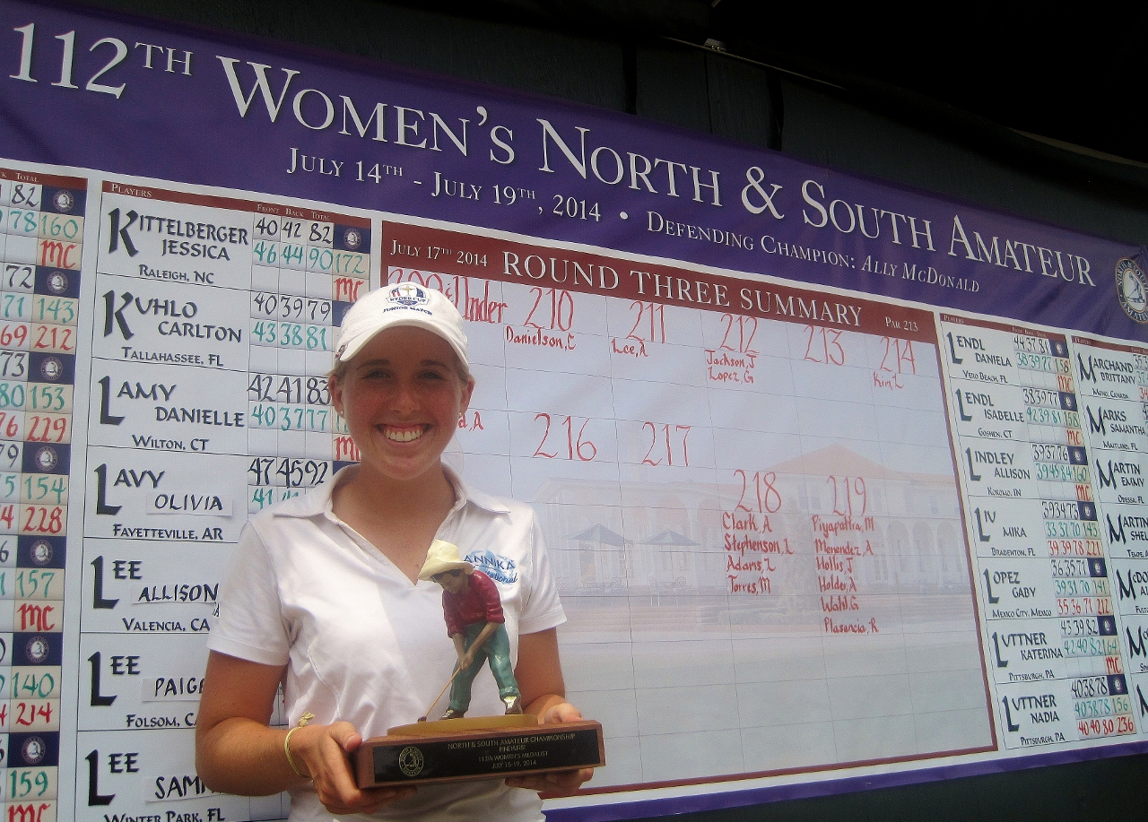 Casey Danielson won medalist honors at the 112th Women's North & South Amateur at Pinehurst.
