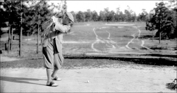 Donald Ross tees off during one of his many golf outings.