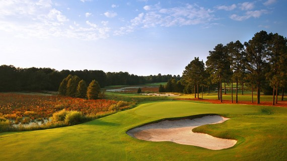 Tom Fazio took advantage of terrain and natural wetlands while designing Pinehurst No. 8.