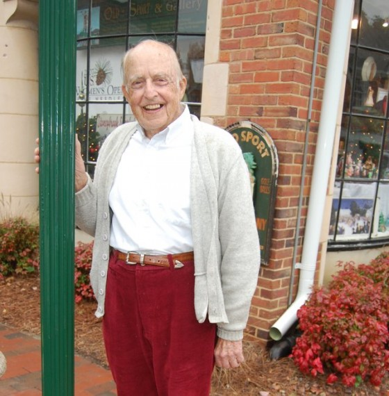 It was usually pretty easy to find John Derr in Pinehurst. Check in on Tom Stewart's Old SPort Gallery, and there was a good chance Derr was there, always telling stories.