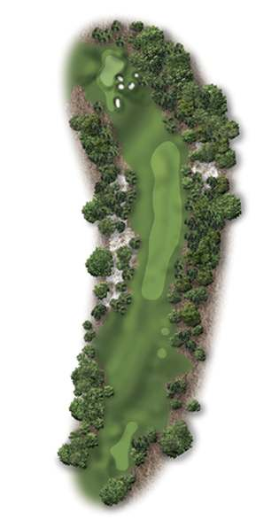 Hole Illustration for Pinehurst No. 1
