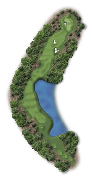 Hole Illustration for Pinehurst No. 4