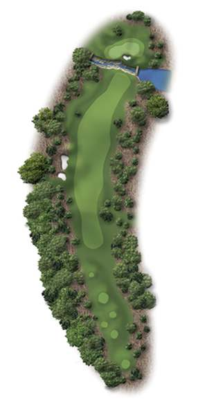 Hole Illustration for Pinehurst No. 5