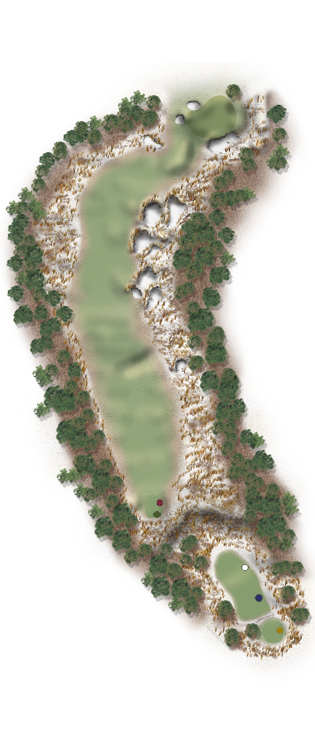 Hole Illustration for Pinehurst No. 7