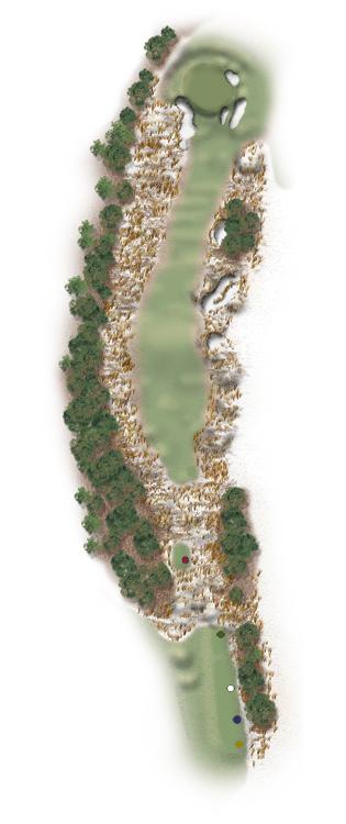 Hole Illustration for Pinehurst No. 13