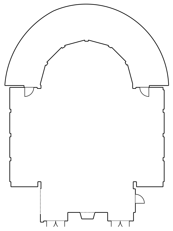 Floor Plan Illustration for Pinehurst The Ballroom