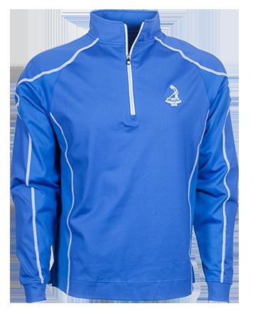 FJ Mens Texture Sport Half Zip Pullover - Royal