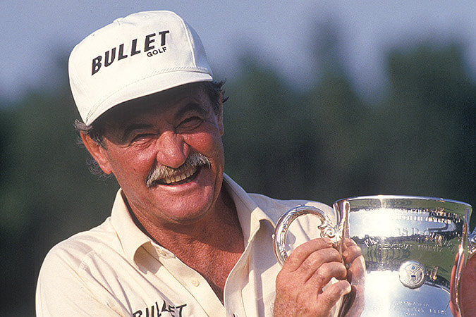 Simon Hobday as seen with the trophy after winning the 1994 U.S. Senior Open Championship at Pinehurst Resort & Country Club in Pinehurst, North Carolina.(Copyright USGA/Robert Walker)