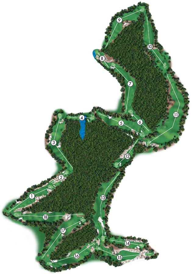 Course Illustration for Pinehurst No. 3