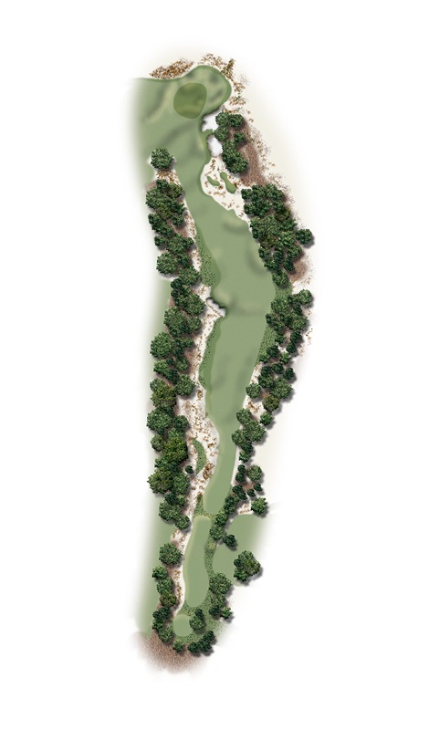 Hole Illustration for Pinehurst No. 18