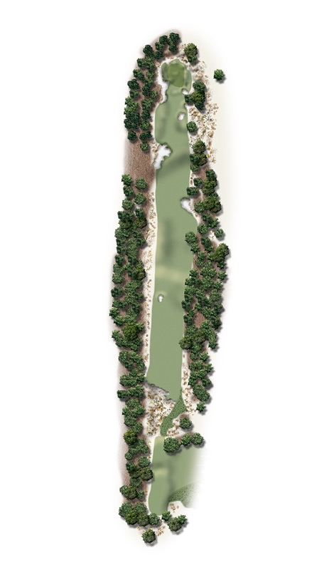 Hole Illustration for Pinehurst No. 17