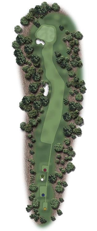 Hole Illustration for Pinehurst No. 1