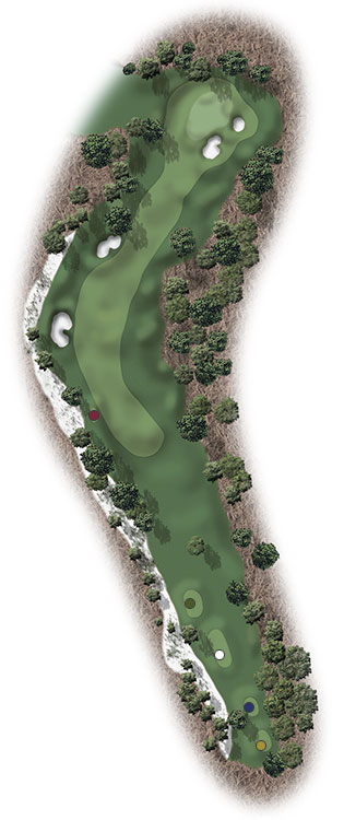 Hole Illustration for Pinehurst No. 4