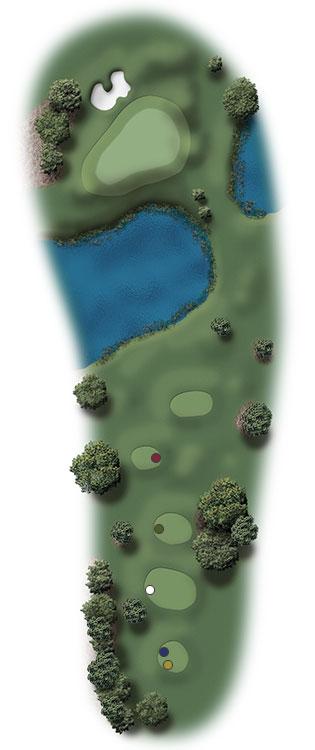 Hole Illustration for Pinehurst No. 12