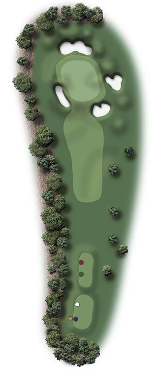 Hole Illustration for Pinehurst No. 5
