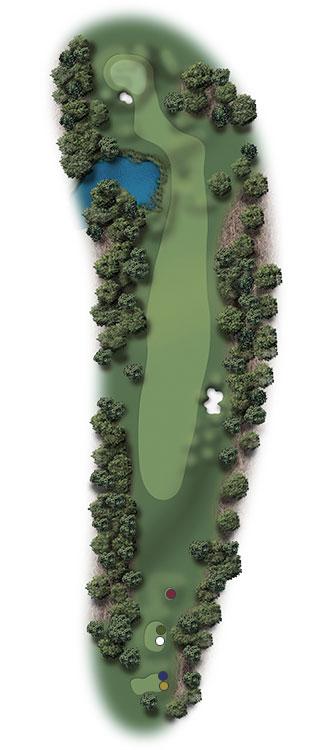Hole Illustration for Pinehurst No. 2