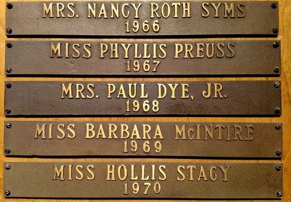 Alice Dye won the 1968 North and South Women's Amateur at Pinehurst in 1968. He name is listed on Pinehurst's Perpetual Wall in the style of the time - under her husband's name.