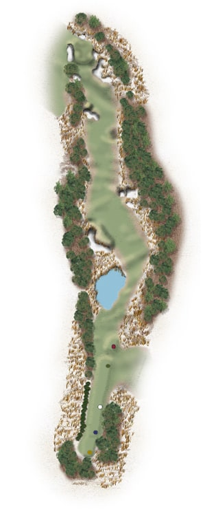 Hole Illustration for Pinehurst No. 16