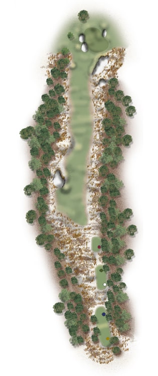 Hole Illustration for Pinehurst No. 11