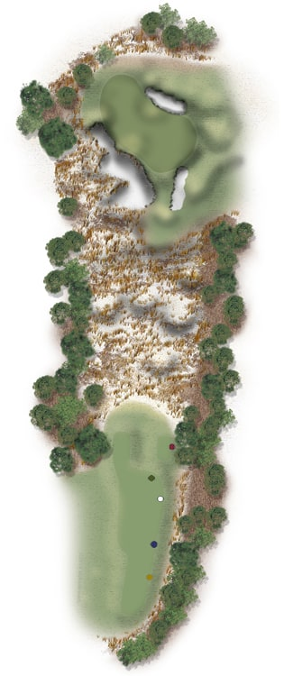 Hole Illustration for Pinehurst No. 9