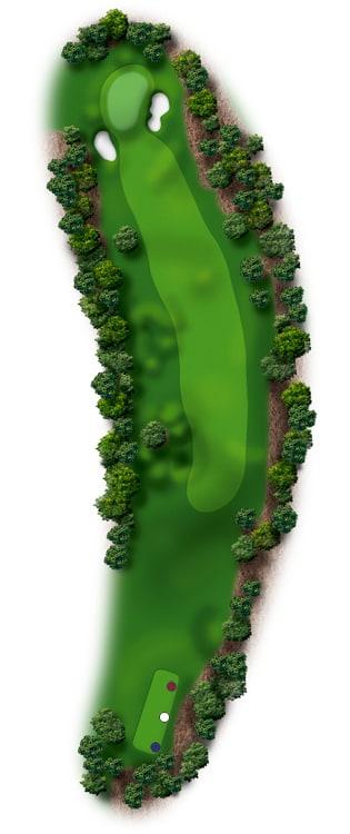 Hole Illustration for Pinehurst No. 14