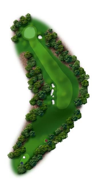 Hole Illustration for Pinehurst No. 6