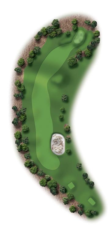 Hole Illustration for Pinehurst No. 11