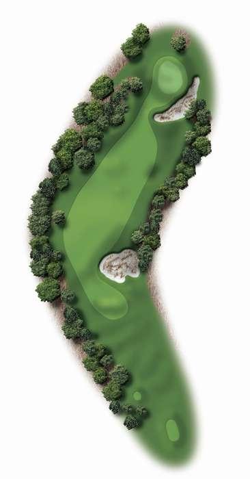 Hole Illustration for Pinehurst No. 3