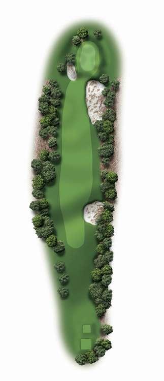Hole Illustration for Pinehurst No. 18