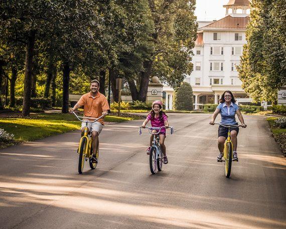 Enjoy a bike ride though the historic Village of Pinehurst